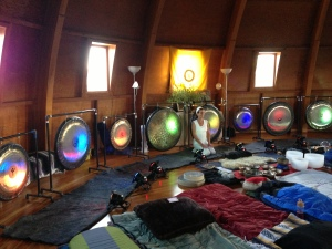 Gongs at the Integratron